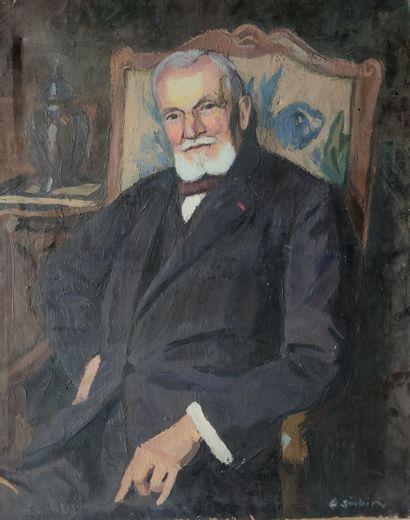 JOUBIN GEORGES (1888-1983) PORTRAIT D HOMME,...