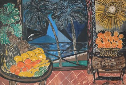 Louis Albert GAYRIN (1911-1971) Santa Barbara,...