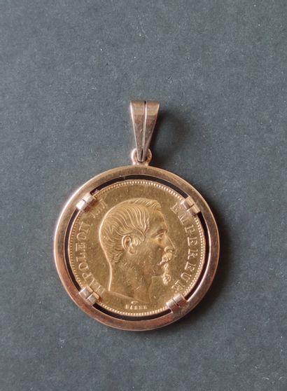 Monnaie en or 750°/00 Napoléon II, 50 francs,...