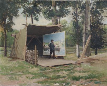 ECOLE FRANCAISE XIXe SIECLE Le peintre sur...