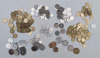 Lot de pièces diverses XXème siècle France...