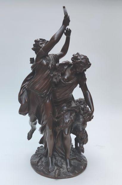 François CLODION Allégorie à La Danse, deux...