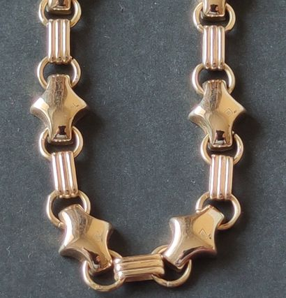 Necklace in yellow gold 750°/°°, Length : 46 cm, Weight : 34.1 g