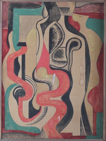 HERBIN Auguste (1882-1960) Composition Ellipse...
