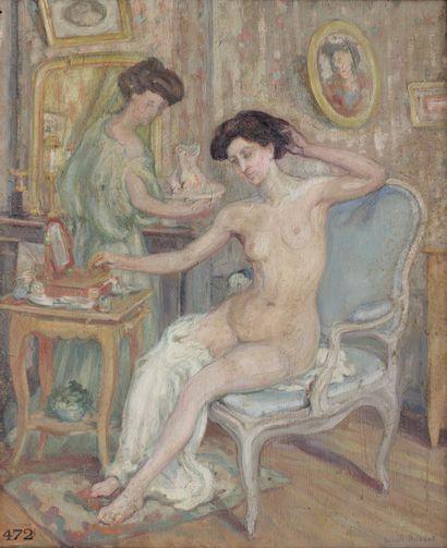 Hubert HEISSAT XXe siècle Jeune femme et...