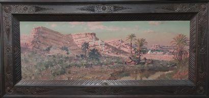 Maxime NOIRÉ (1861-1927) Repos dans l'oasis...