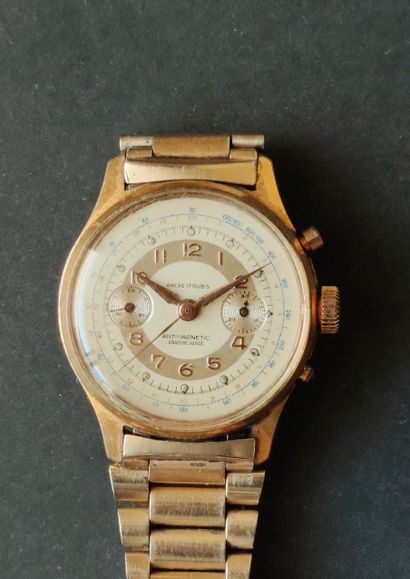 MONTRE-BRACELET chronographe en acier. En...