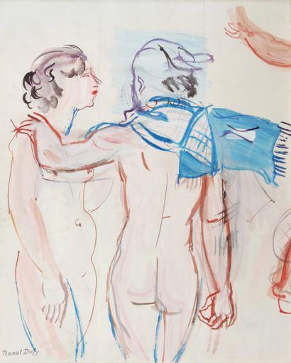 Raoul DUFY (1877-1953) Deux jeunes femmes...