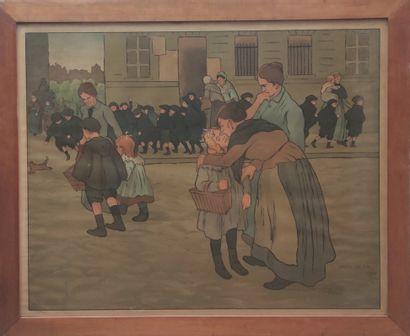 Jules ADLER (1865-1952) La sortie d'école...