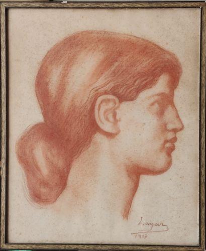 LAGAR Celso (1891-1966) Tête de femme de...