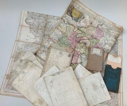 ENSEMBLE de 5 cartes géographiques du XIXème...