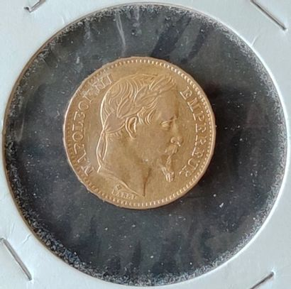 1 piece of 20 francs gold Napoleon III SELLING EXPENSES FOR THIS LOT : 10 % TTC...