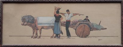 Louis FLOUTIER (1882-1936) Femme et deux...