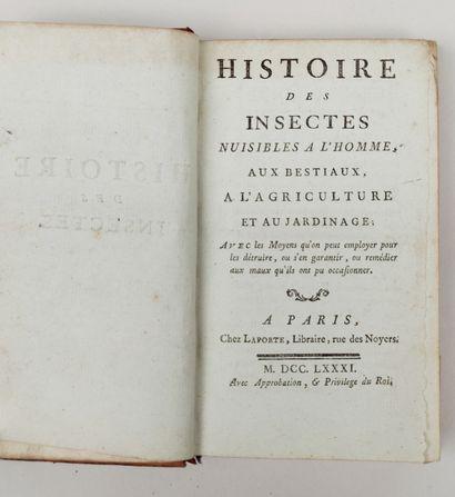 HISTOIRE DES INSECTES NUISIBLES A L'HOMME,...