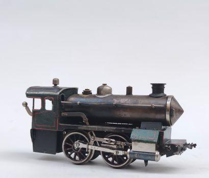BING GBN LOCOMOTIVE à vapeur en métal peint,...