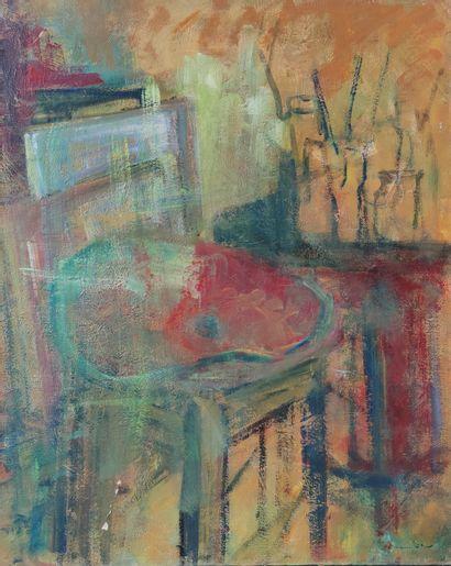 Willy EISENSCHITZ (1889-1974) attribué à Palette posée dans l'atelier Huile sur...