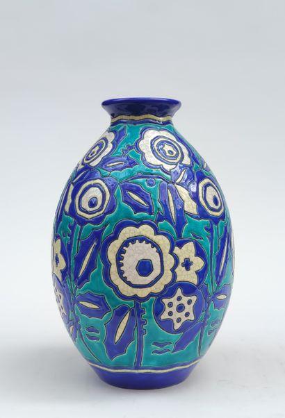 KERAMIS VASE de forme pansue en céramique...