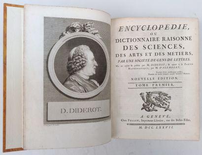 DIDEROT et D'ALEMBERT Encyclopédie ou dictionnaire...