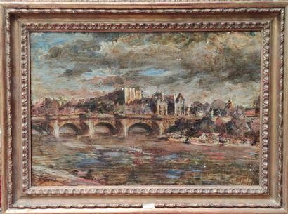 Henri PELLETIER (XX) Paris, La seine, Le...