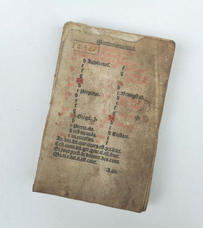 Livre ancien incomplet, le texte en latin...