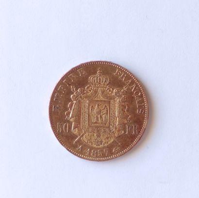PIECE de 50 Francs or Napoléon III , tête...