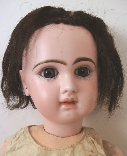 Bébé JUMEAU, (1898) tête en biscuit coulé...