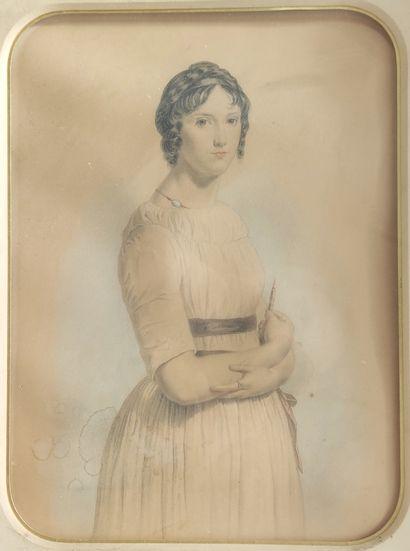 CIAPPORI Portrait de jeune femme debout...