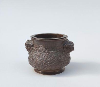 Petite COUPE de forme ronde pansue en bronze...