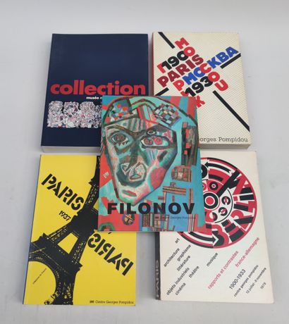 Ensemble de 5 catalogues d'exposition Centre...