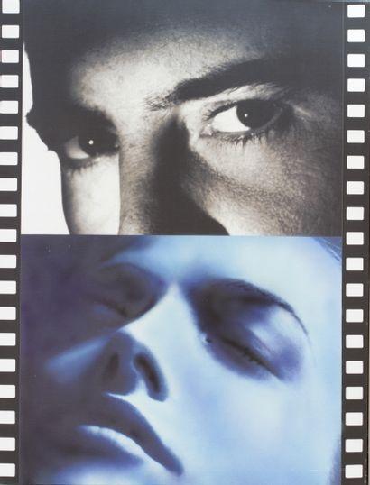 Peter KLASEN (1935) Séquence n°7 Blue Dream, 2005 Technique mixte, sérigraphie/toile...