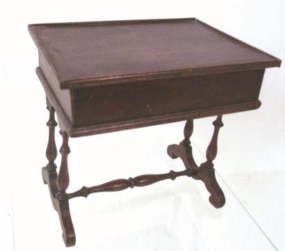Table de toiletteavec plateau en bois Format...
