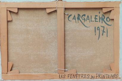 Manuel CARGALEIRO ( Né en 1927) Les fenêtres du printemps,1971 Huile sur toile signée...