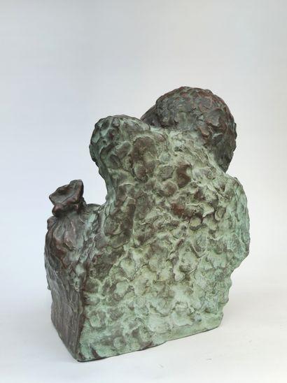 """MAX LE VERRIER (1891-1973) """"L'avare"""" Epreuve en bronze, fonte d'édition à patine..."""