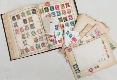 ALBUM de timbres français incomplet avec...