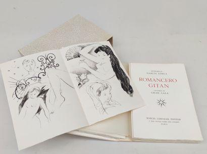 FEDRICO GARCIA LORCA Romancero Gitan, ed Marcel Lubineau, illustration de Grau-Sala...