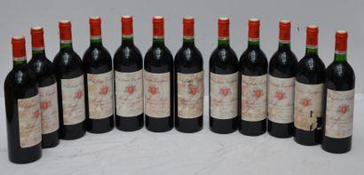 12 Bout CHT POUJEAUX 1983 (étiquettes tachées)...