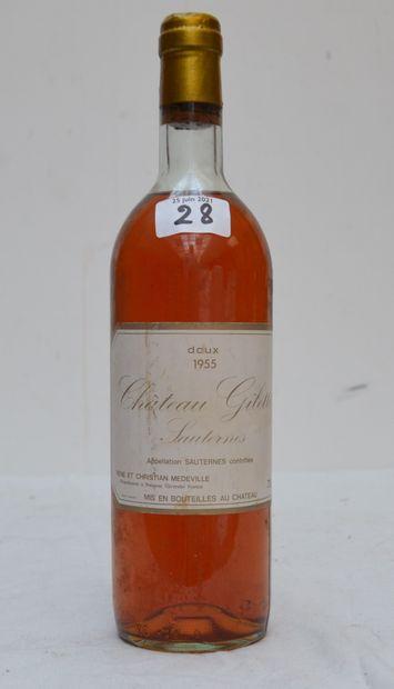 1 bout CHT GILETTE 1955 SAUTERNES (debut...