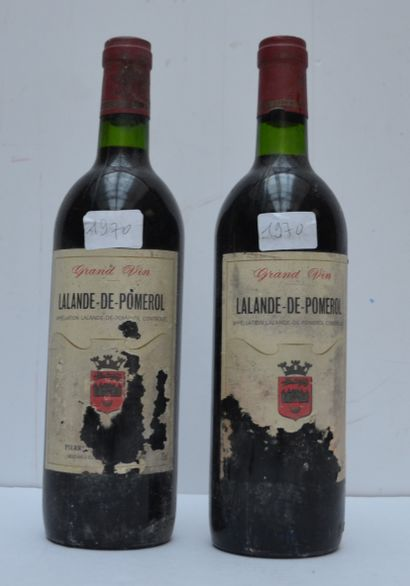 2 bout CHT LALANDE DE POMEROL 1970 (ea)