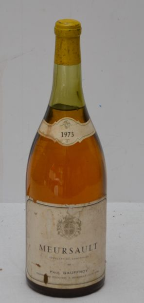 1 magnum MEURSAULT 1973 GAUFFROY (-4,5cm...