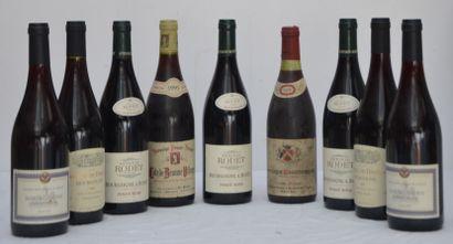 9 bout : 3 bout Bourgogne Pinot Noir 2010...