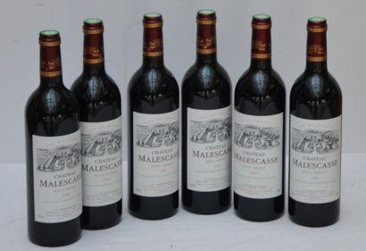 6 bout Chateau Malescasse 1996 (CB)