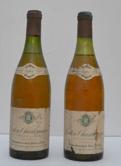 2 bout CORTON CHARLEMAGNE 1962 (1nlb)