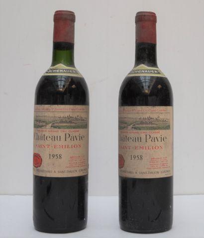 2 bout CHT PAVIE 1958 (nlb, 1 bouchon très...