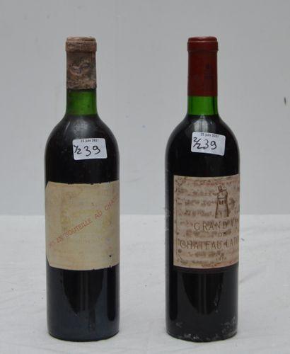2 bout 1 CHT LATOUR 1974 (bg, étiquette tachée),...
