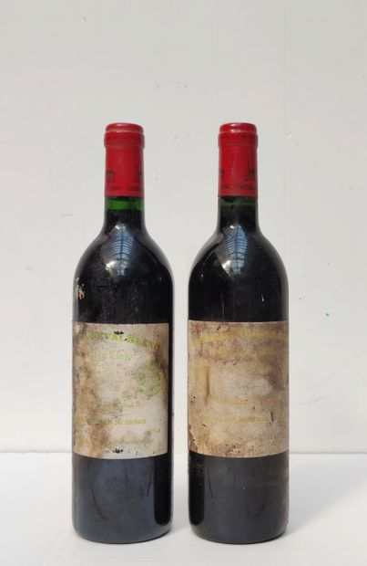 2 BOUT CHT CHEVAL BLANC PRESUMEE 1986 ET...