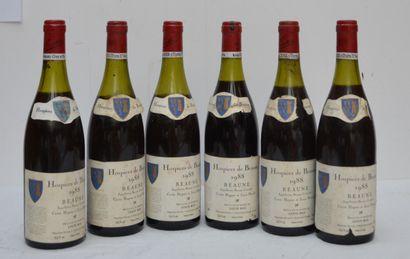 6 bout HOSPICE DE BEAUNE 1988 (de 3.5 cm...