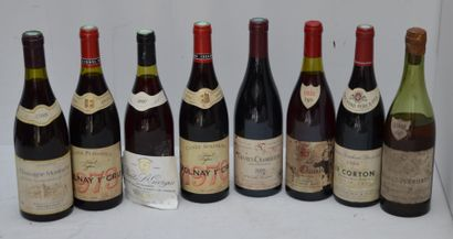 8 bout : 2 CHASSAGNE 1/1981, 1/1988, 2 VOLNAY...