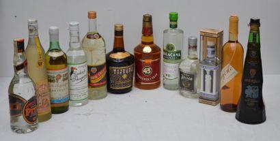 12 bout ALCOOLS DIVERS ETRANGERS