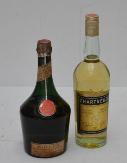 2 bout : 1 CHARTREUSE, 1 BENEDICTINE