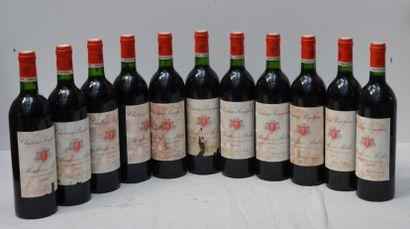 11 Bout CHT POUJEAUX 1983 (étiquettes ta...